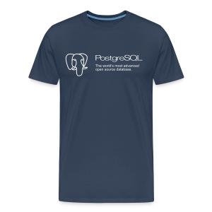 Navy blue PostgreSQL XXXL t-shirt - Men's Premium T-Shirt