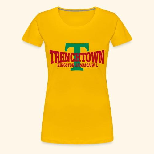 TRENCHTOWN ROUGE & VERT - T-shirt Premium Femme