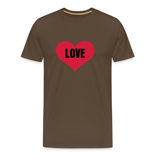 Love - Heren - Mannen Premium T-shirt