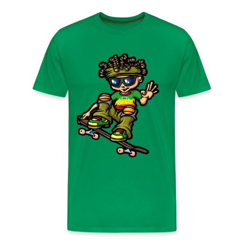 Reggae boy and  skateboard - Men's Premium T-Shirt