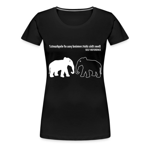 Self Reference | Wit | V - Vrouwen Premium T-shirt
