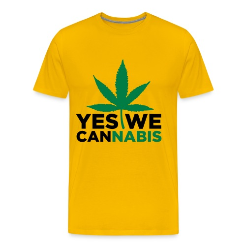 Yes we Cannabis T-Shirt gelb - Männer Premium T-Shirt