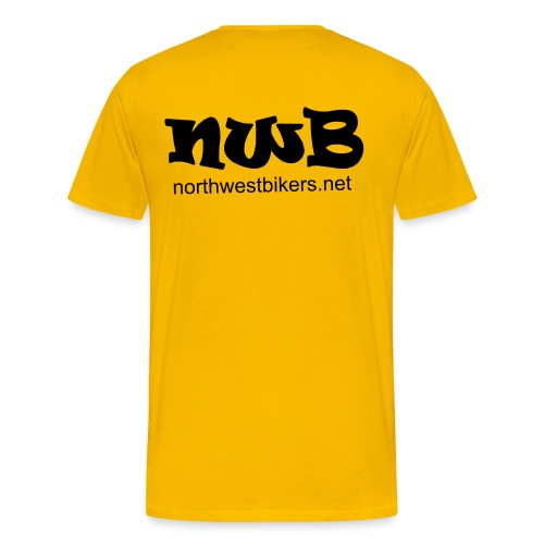 Men's T-Shirt - Yellow/Black - Men's Premium T-Shirt
