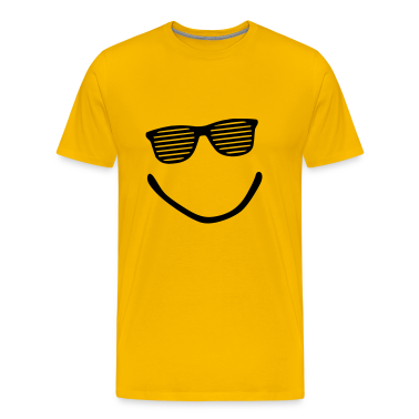 Yellow smile sunglasses Men's T-Shirts