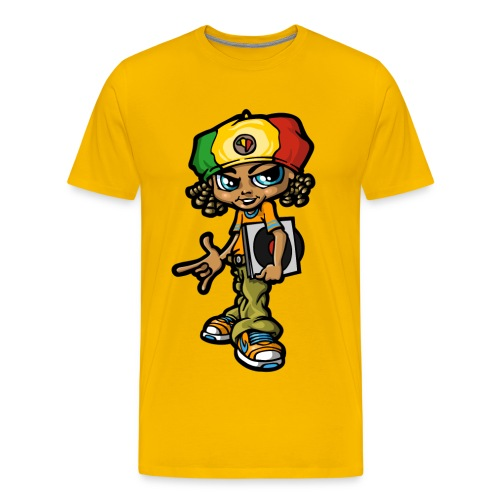 Reggae boy and  vinyls - Men's Premium T-Shirt
