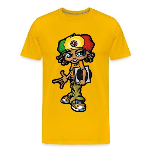 Reggae boy and  vinyls - Men's Premium T-Shirt