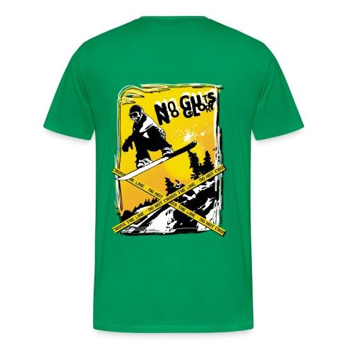 Flat Spin 2010 - T-Shirt Snow Board (verso) - T-shirt Premium Homme
