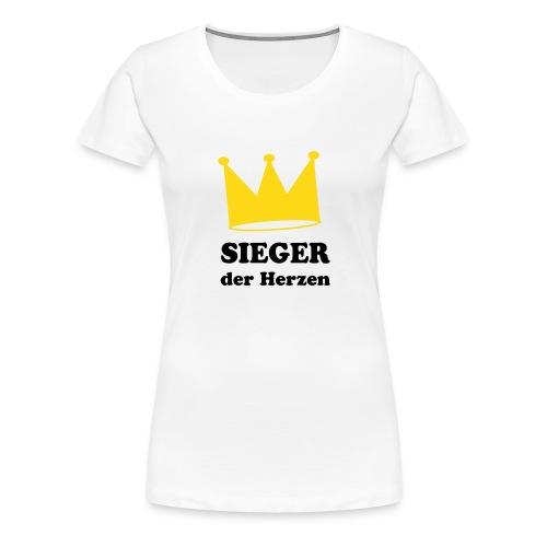 Siegerin der Herzen - Frauen Premium T-Shirt