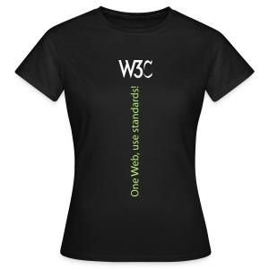 oneweb_women_black_shirt - Women's T-Shirt