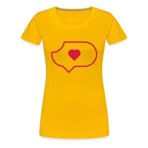 Da ist Liebe drin - Frauen Premium T-Shirt