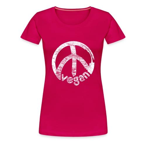 Womens 'vegan peace' - Frauen Premium T-Shirt