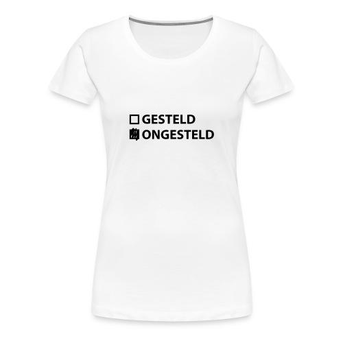 Dames Landmacht T-shirt Ongesteld - Vrouwen Premium T-shirt