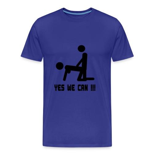 Yes we can! - Premium T-skjorte for menn