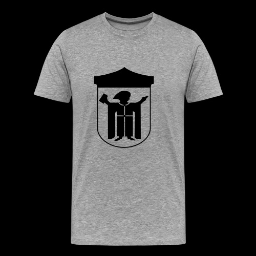 T-Shirt Klassisch Flockdruck schwarz - Männer Premium T-Shirt