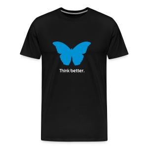 Think Better MorphOS, blau-weiss - Männer Premium T-Shirt
