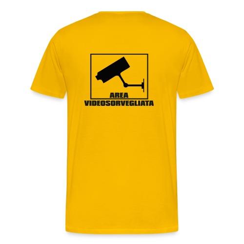 Area Videosorvegliata (schiena) - Maglietta Premium da uomo
