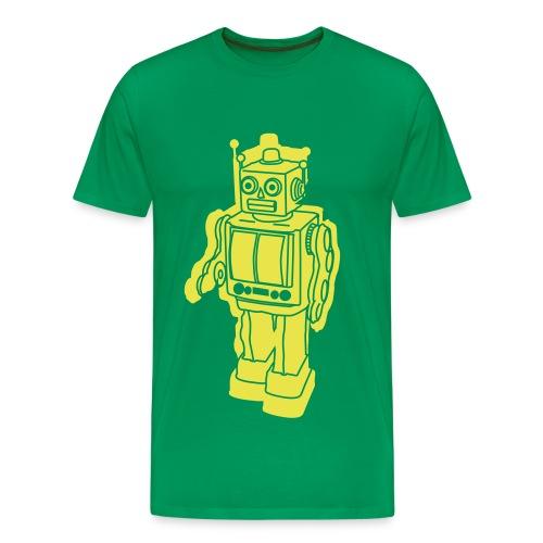 Robot Green - Maglietta Premium da uomo