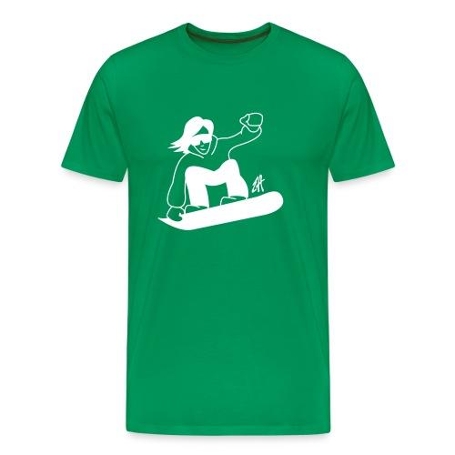 Snowboard - Premium-T-shirt herr