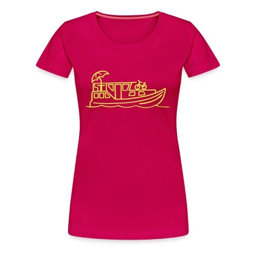 Hausboot - Frauen Girlieshirt - Schrift Gelb - Frauen Premium T-Shirt
