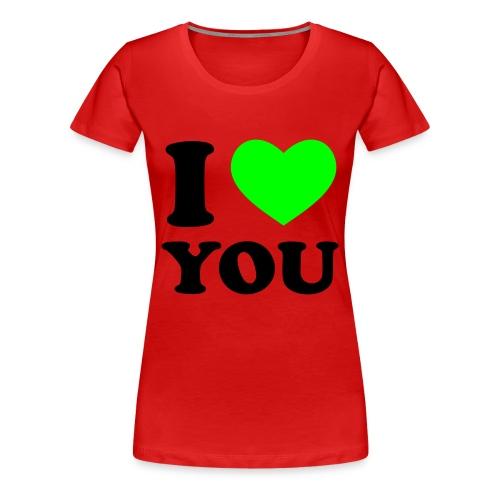 I (L) YOU t-shirt - Vrouwen Premium T-shirt