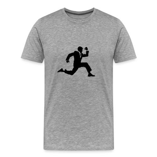 Affärsman - Premium-T-shirt herr