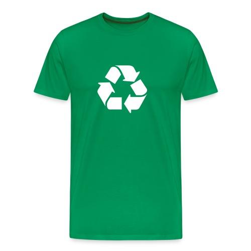 Kierrätys - Miesten premium t-paita