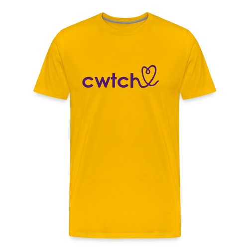 Cwtch with heart t shirt - Men's Premium T-Shirt