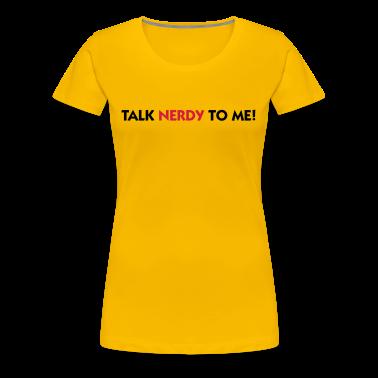Rosa chiaro Talk Nerdy to Me (2c) T-shirt