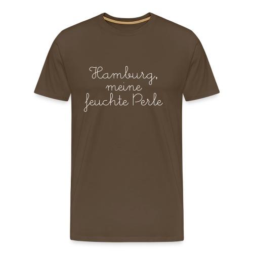 """T-Shirt """"feuchte Perle"""" kaffeebraun - Männer Premium T-Shirt"""