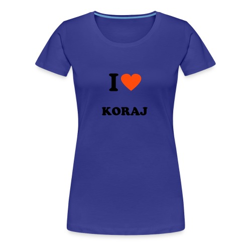 I Love Koraj - Women's Premium T-Shirt
