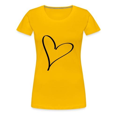 sydän tuotteet - Naisten premium t-paita