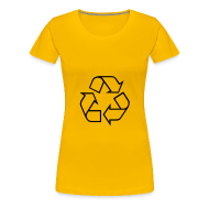 T-shirts ~ Vrouwen Premium T-shirt ~ Recycle open