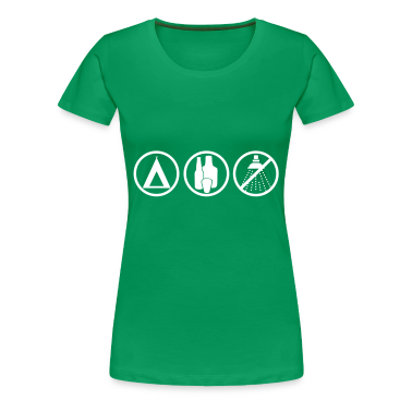 Grass green Festival - Camping Women's T-Shirts