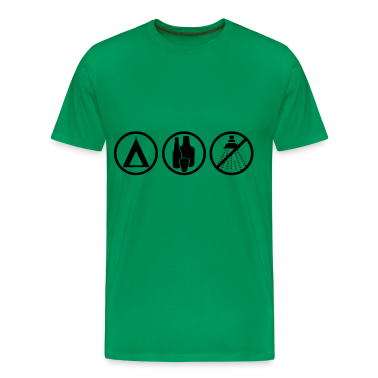 Moss green Festival - Camping Men's T-Shirts