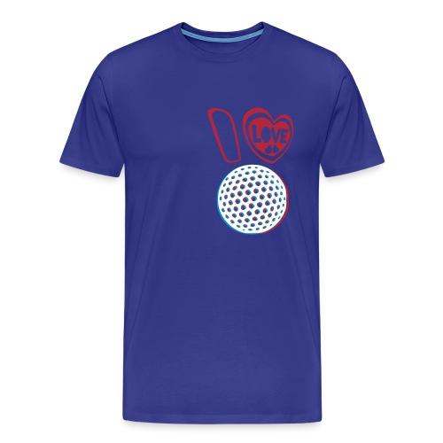 3D I Love Golf T-Shirt - T-shirt Premium Homme