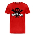 Red rock music heavy metal Men's T-Shirts
