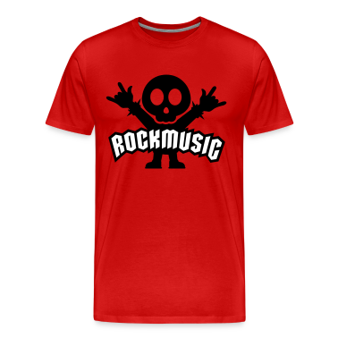 Rosso rock music heavy metal T-shirt