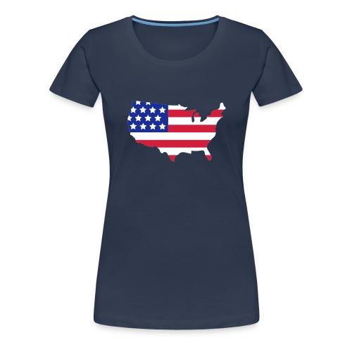Women''s Team USA Long Sleeve Shirt - Women's Premium T-Shirt