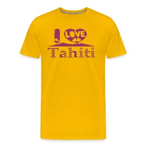 T-shirt I LOVE TAHITI - Men's Premium T-Shirt