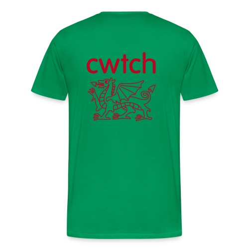 Give a bigger Cwtch Full of love  - Men's Premium T-Shirt