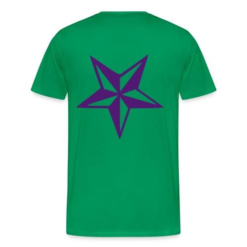 T-SHIRT - Kaki & Purple - T-shirt Premium Homme