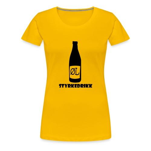 Styrkedrikk - Premium T-skjorte for kvinner