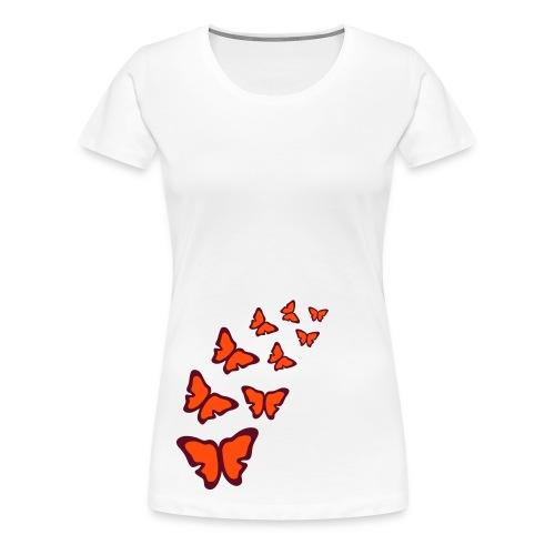 Damen Fun Shirt, sexy Shirt Schmetterlinge  I Funshirts - Frauen Premium T-Shirt