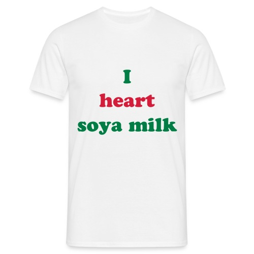 I heart soya milk - Men's T-Shirt