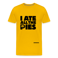 T-Shirts ~ Men's Premium T-Shirt ~ I Ate All the Pies - Men's T-Shirt