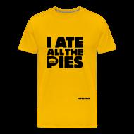 T-Shirts ~ Men's Premium T-Shirt ~ I Ate All the Pies - Men's T-Shirt