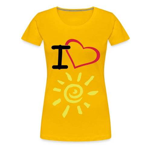 I love Sunshine - Frauen Premium T-Shirt