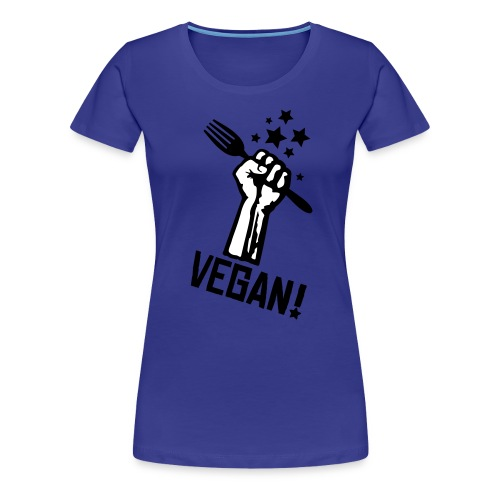Womens Shirt 'rising fist VEGAN!' GoDoT - Frauen Premium T-Shirt