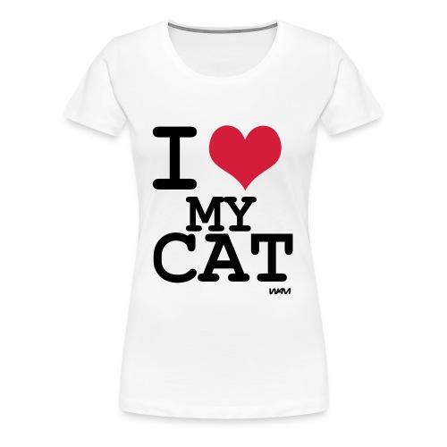 I love My Cat - Maglietta Premium da donna