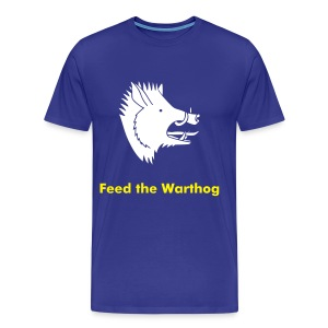 Feed the Warthog - Blue Brazil on back - Men's Premium T-Shirt